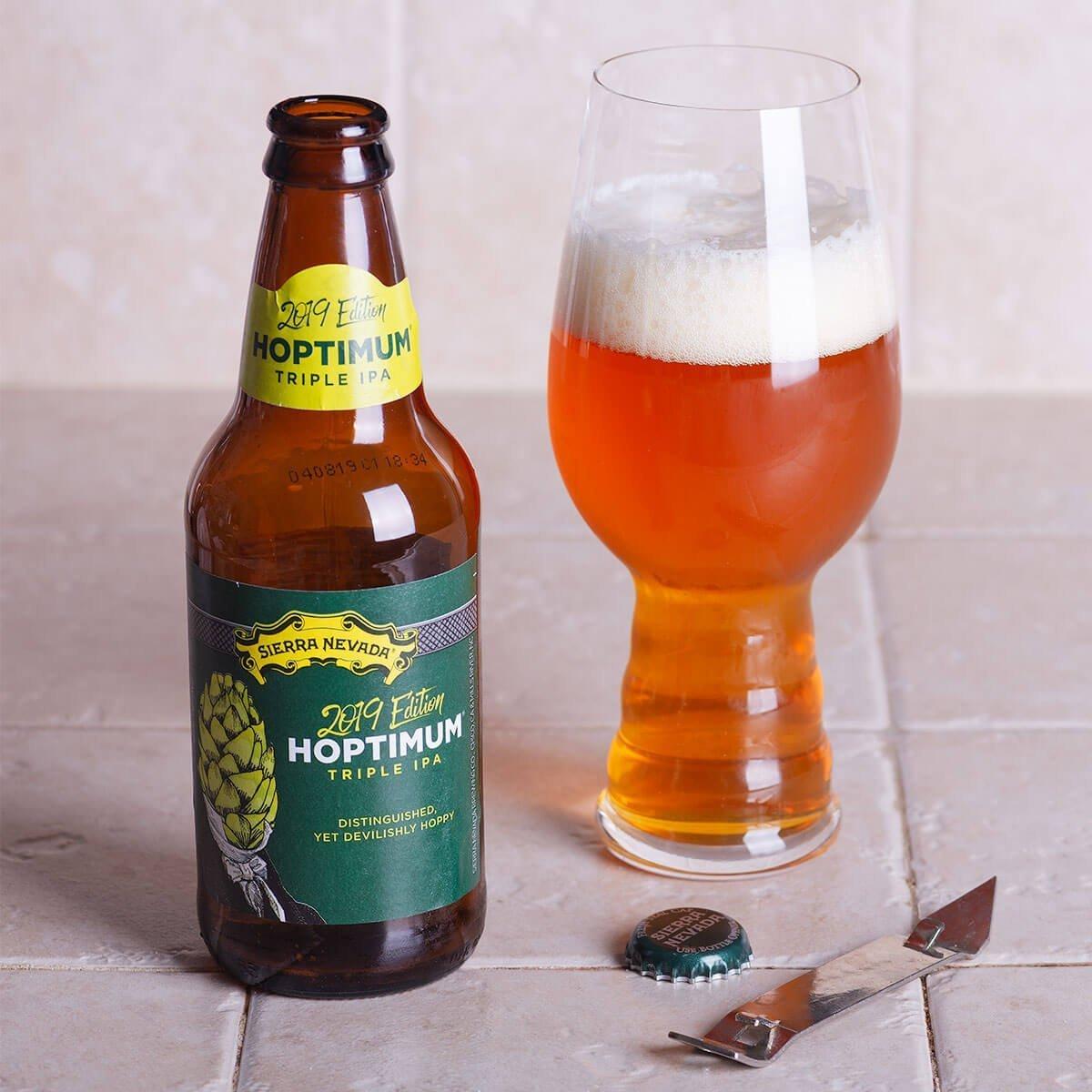 The Hoptimum Triple IPA brewed by Sierra Nevada Brewing Co. strikes a wonderful balance between hops, malt, and boozy strength.