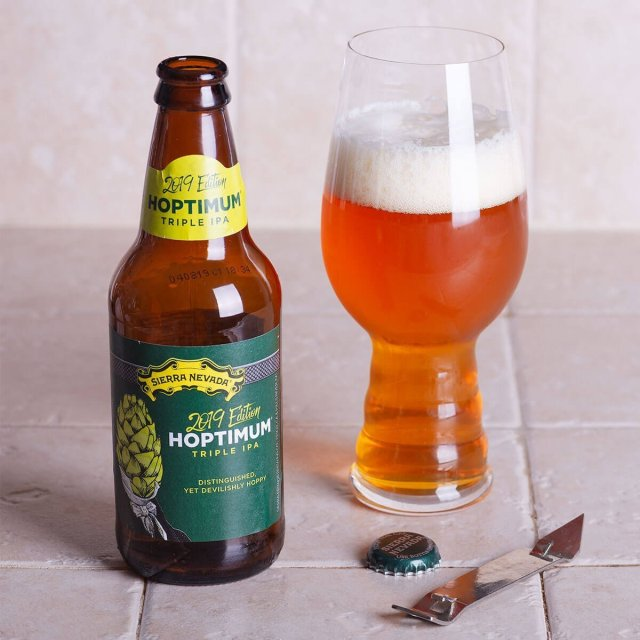 The Hoptimum Triple IPA brewed by Sierra Nevada Brewing Co. strikes a wonderful balance between hops, malt, and boozy strength.