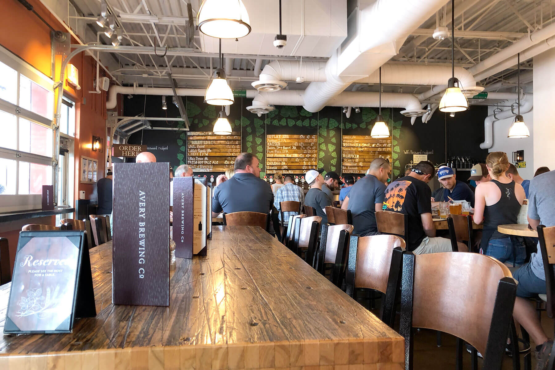 Inside the Avery Brewing Co. taproom in Boulder, Colorado