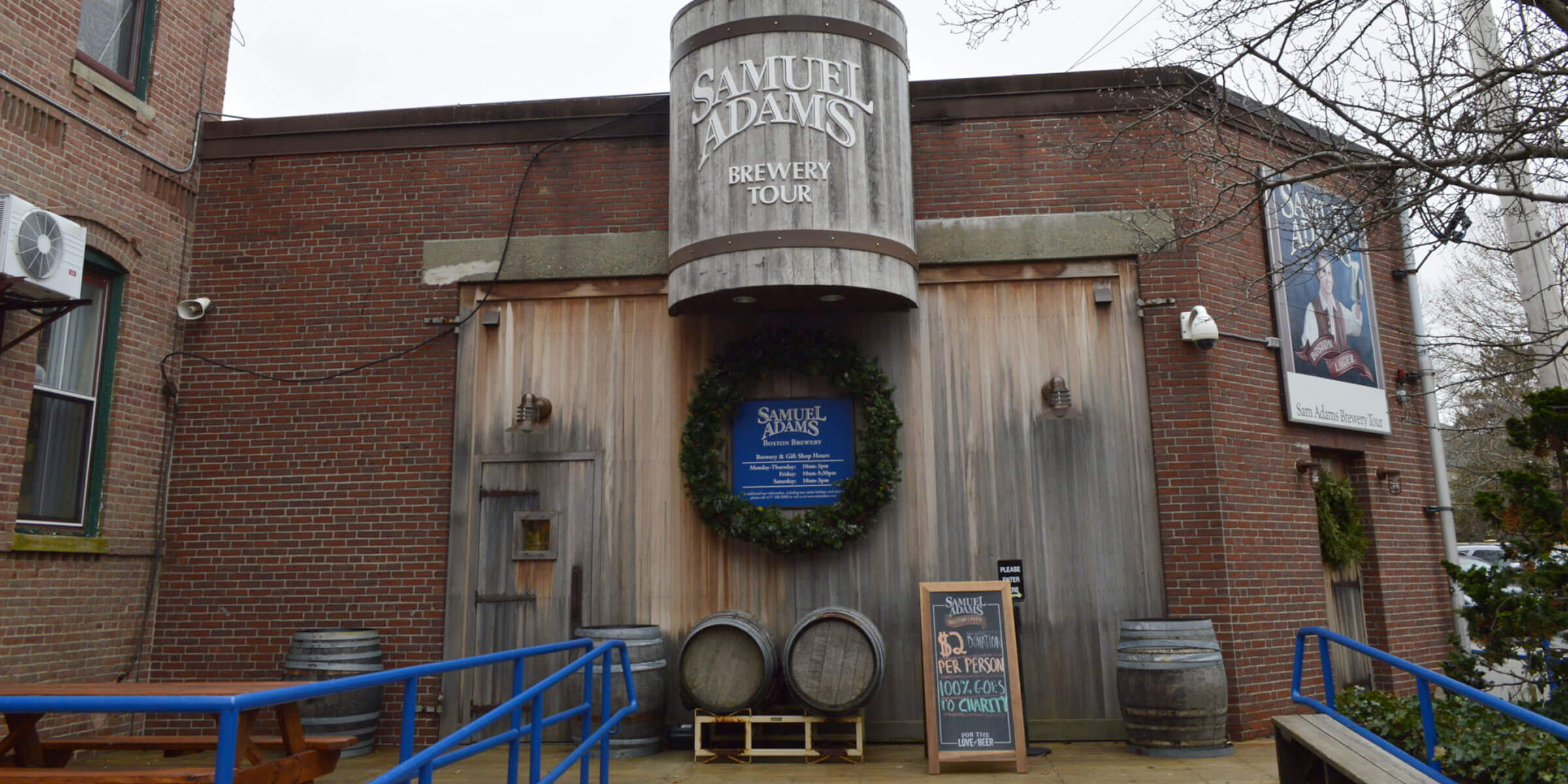 Outside The Boston Brewery where Samuel Adams Beer is Brewed by the Boston Beer Company