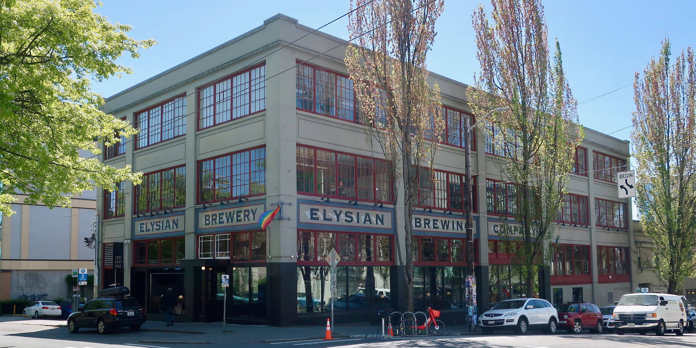 Outside the Tap Room of Elysian Brewing Company in Seattle, Wasington
