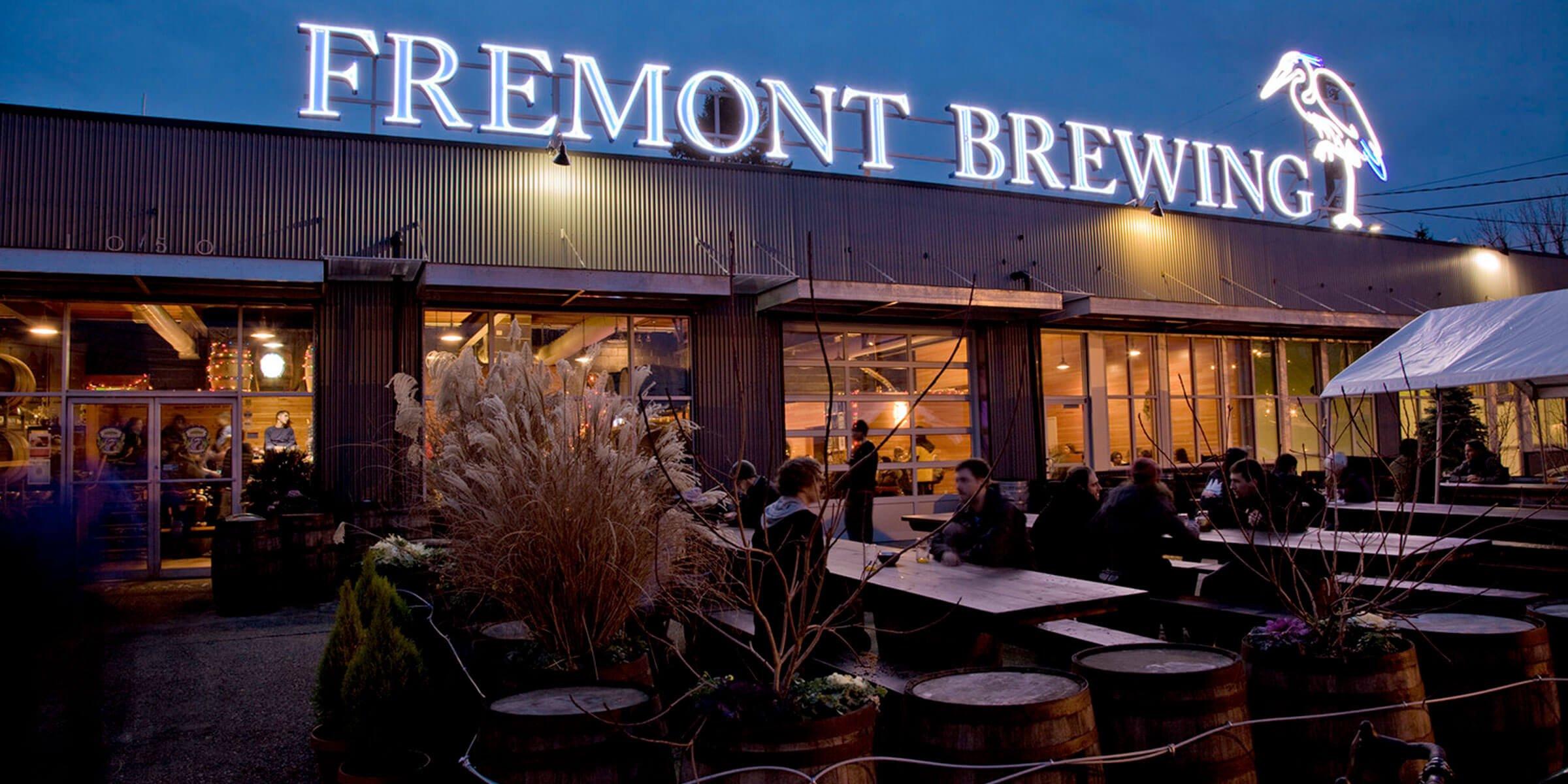 Outside Fremont Brewing in Seattle, Washington