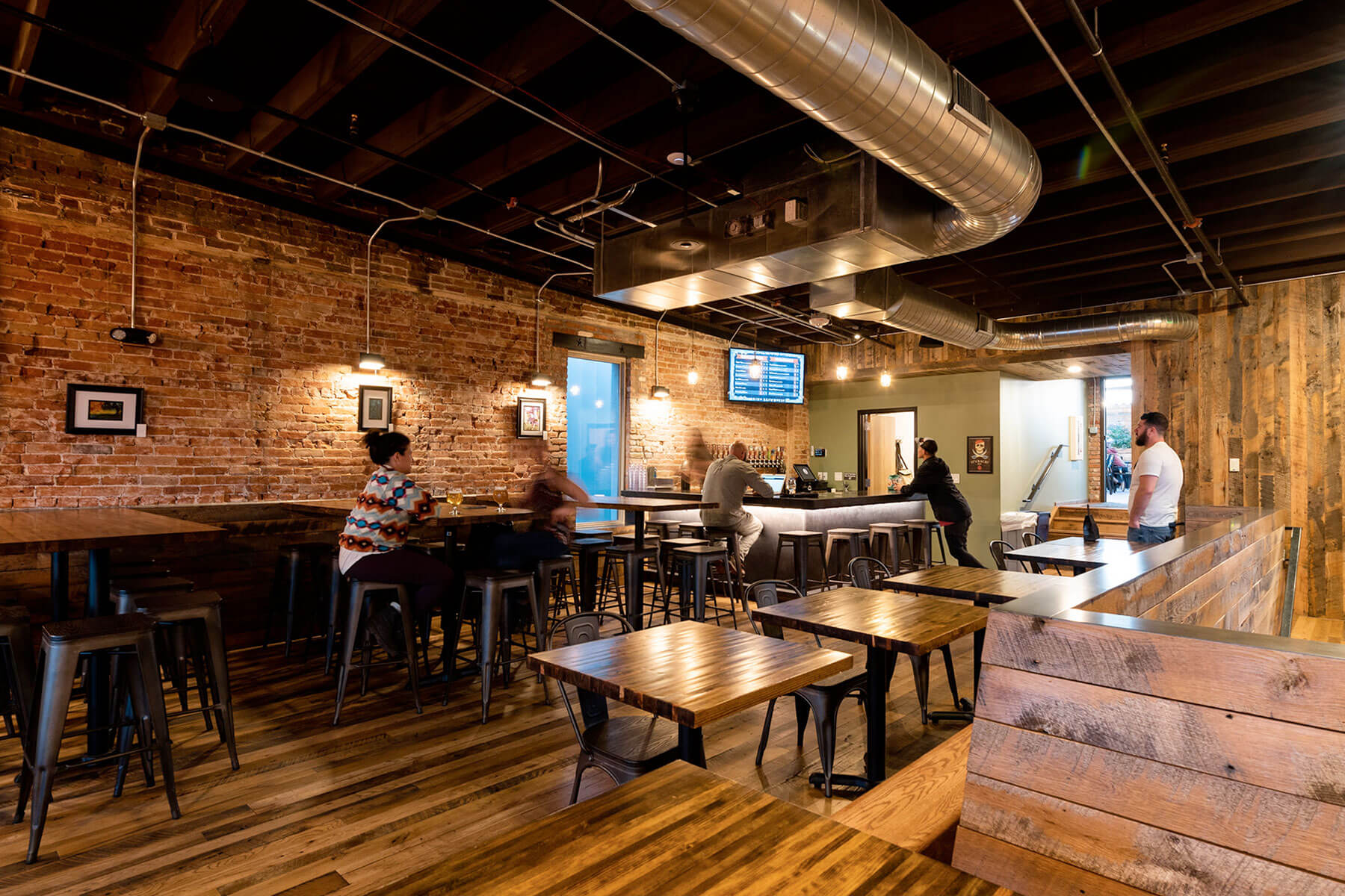Inside the Tap Room of Odell Brewing Co at the River North Art District in Denver, Colorado