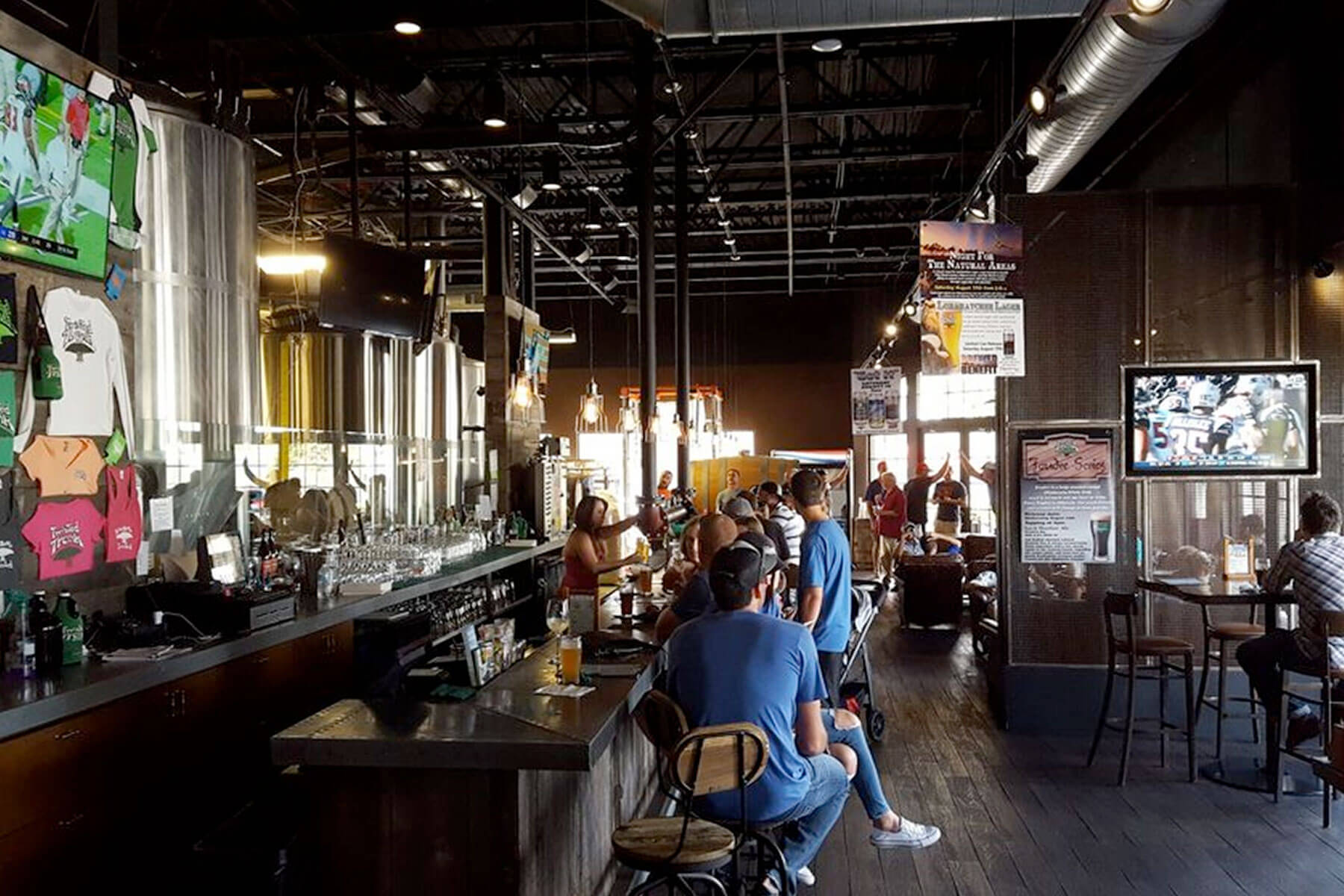 Inside the Tap Room at Twisted Trunk Brewing in Palm Beach Gardens, Florida
