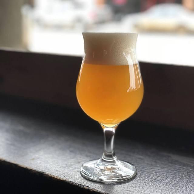 Belgian Witbier in a Tulip Glass