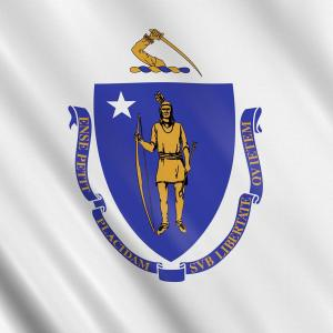 Flag Detail for the Commonwealth of Massachusetts