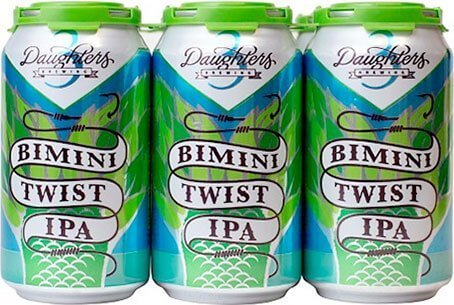 Packaging art for the Bimini Twist IPA by 3 Daughters Brewing