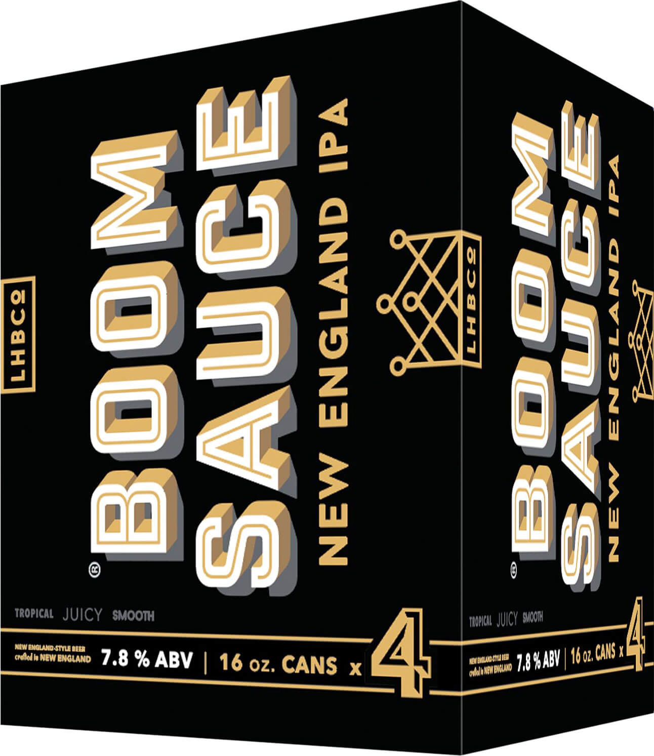 Packaging art for the Boomsauce by Lord Hobo Brewing Co.