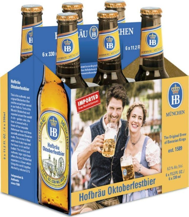 Packaging art for the Hofbräu Oktoberfestbier by Hofbräu München
