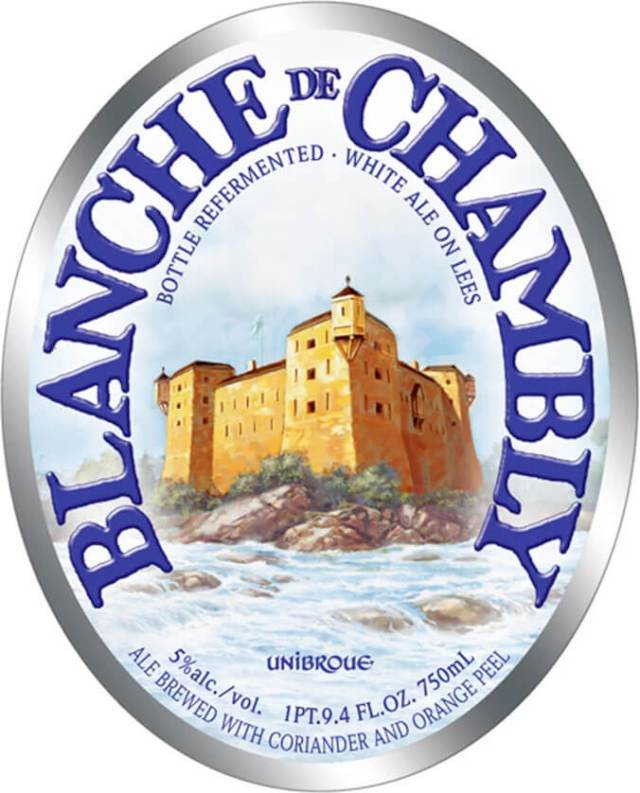 Label art for the Blanche De Chambly by Unibroue