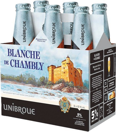 Packaging art for the Blanche De Chambly by Unibroue
