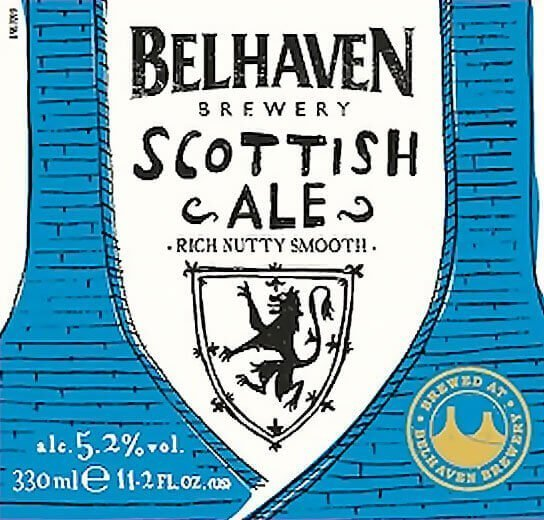Label art for the Belhaven Scottish Ale by Belhaven Brewery Company Ltd.
