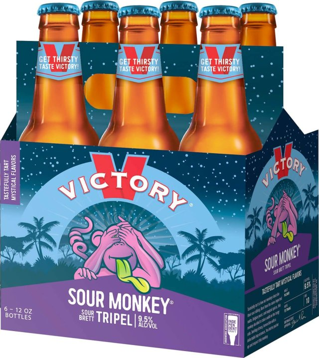 Packaging art for the Sour Monkey by Victory Brewing Company