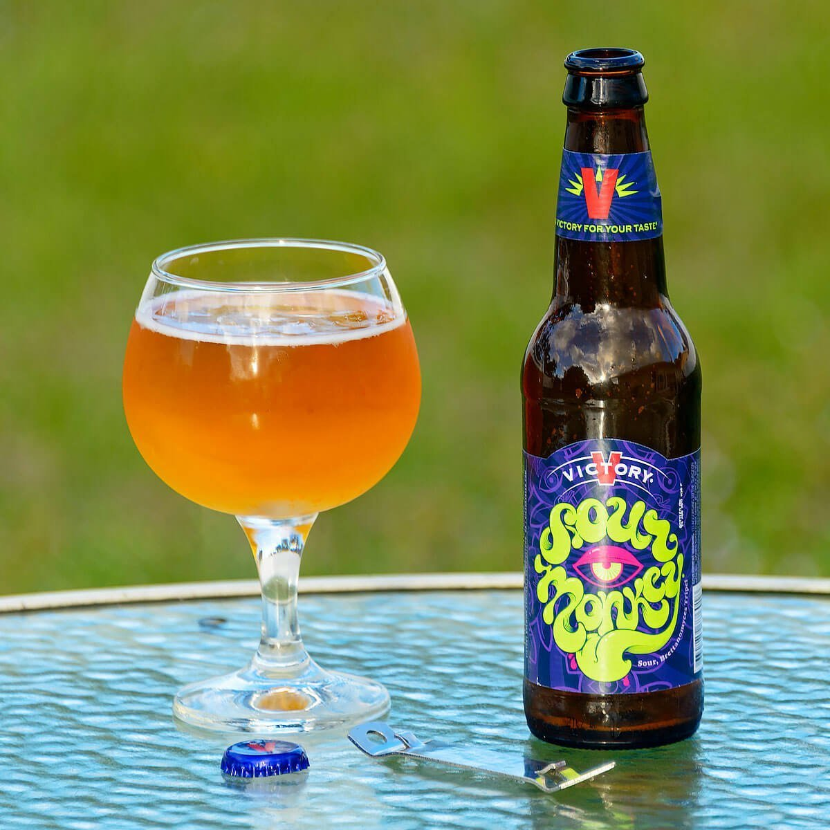 Sour Monkey, a Belgian-style Tripel by Victory Brewing Company features Brettanomyces that lend sour apple and lemon to a wheat base.