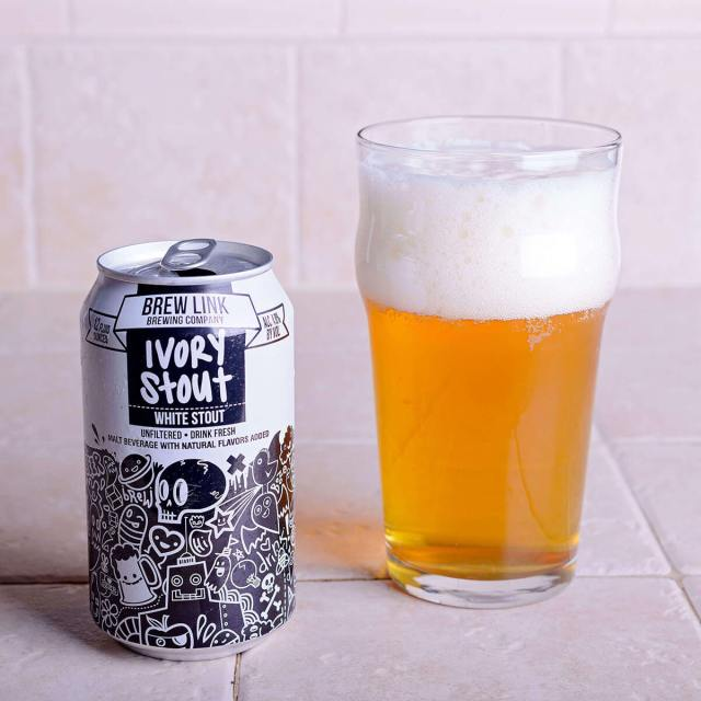 Ivory Stout (White Stout) is an English-style Sweet Stout by Brew Link Brewing Company that looks pale with sweet flavors of chocolate and vanilla.