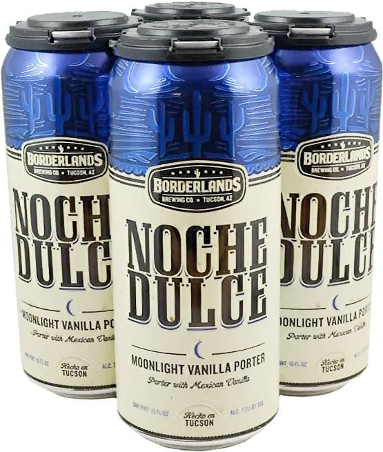 Packaging art for the Noche Dulce by Borderlands Brewing Co.