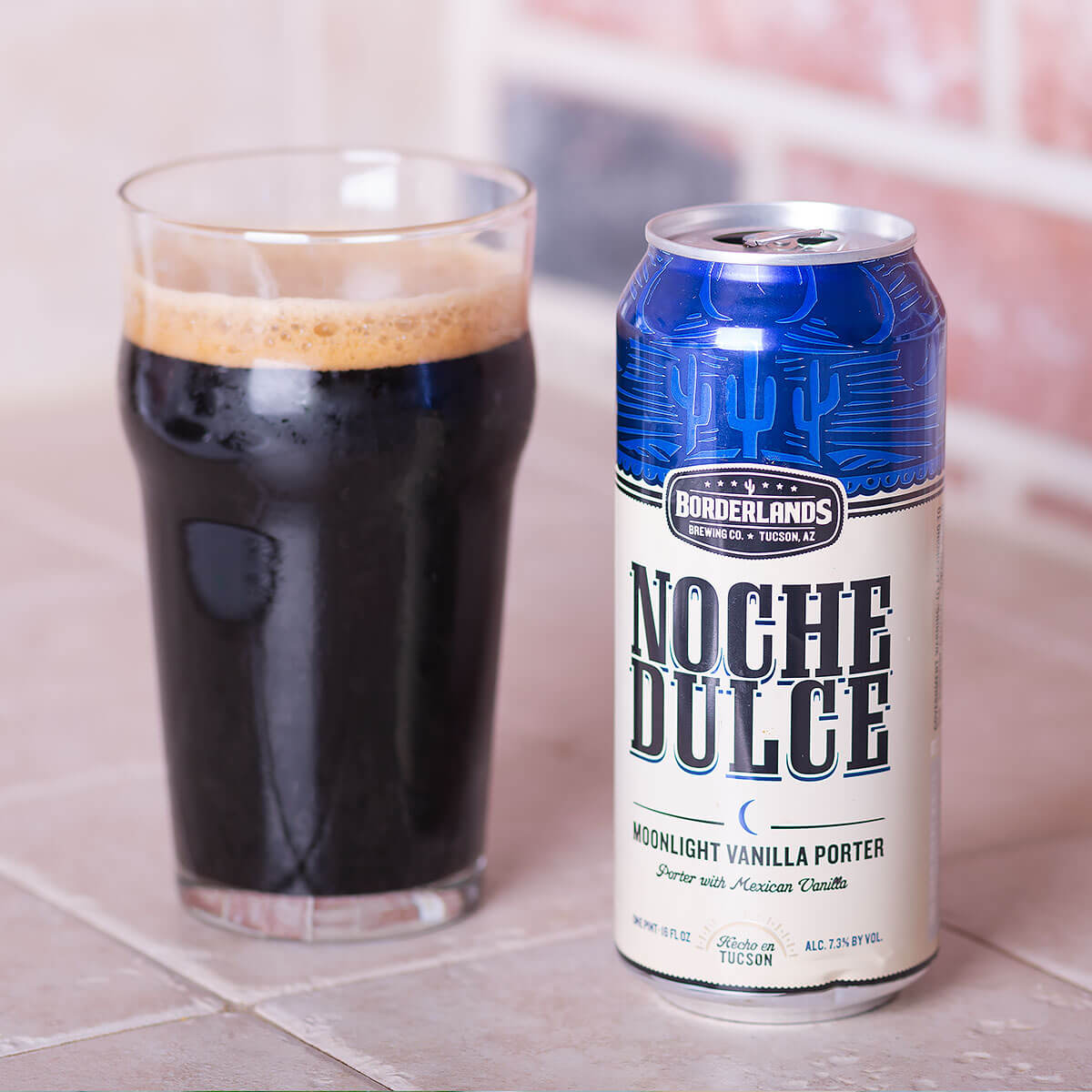 Noche Dulce is an American Porter brewed by Borderlands Brewing Co. that blends espresso roast with hints of sweet Mexican vanilla and chocolate.