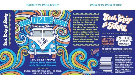 Label art for the Big Blue Van by College Street Brewhouse & Pub