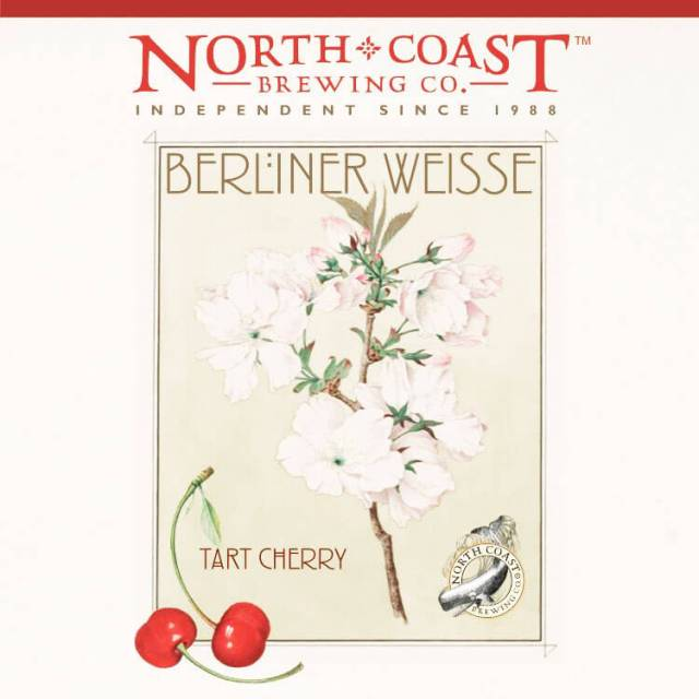 Label art for the Tart Cherry Berliner Weisse by North Coast Brewing Co.