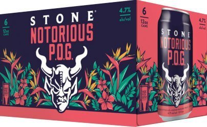 Packaging Design for Six Packs of 12 oz. Cans of the Stone Notorious P.O.G. by Stone Brewing
