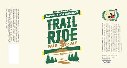Label art for the Trail Ride by Laughing Dog Brewing