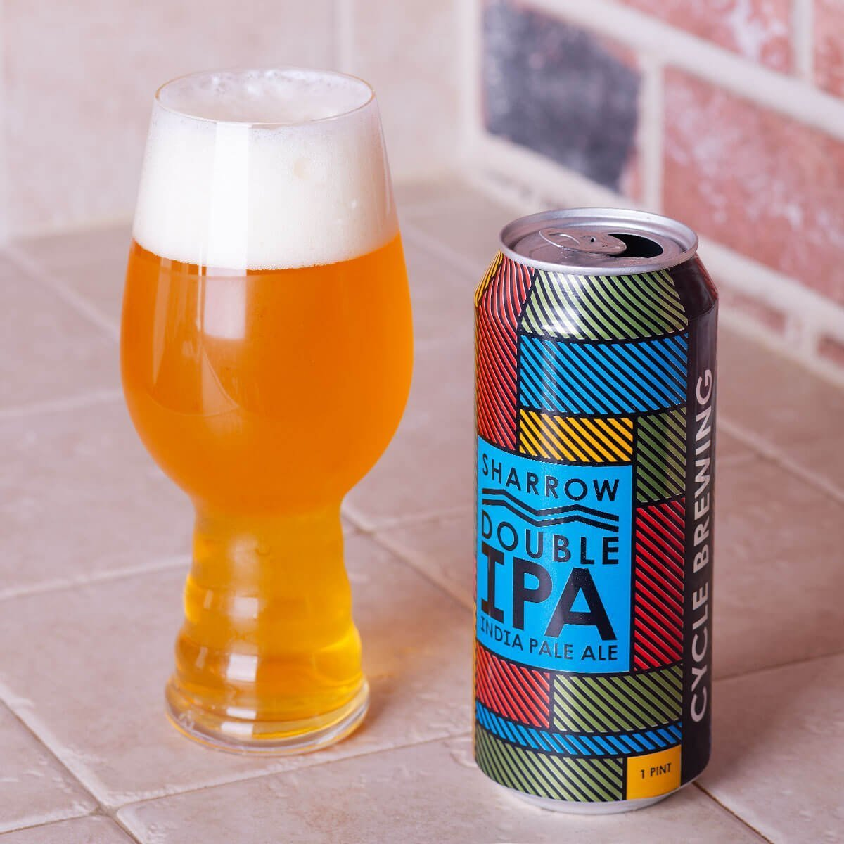 Sharrow is an American Double IPA by Cycle Brewing Company that delivers piney and floral hoppiness that's well-balanced by its malty backbone.
