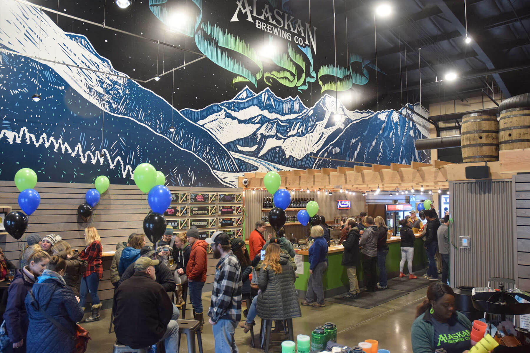 Inside the Tap Room at Alaskan Brewing Co. in Juneau, Alaska