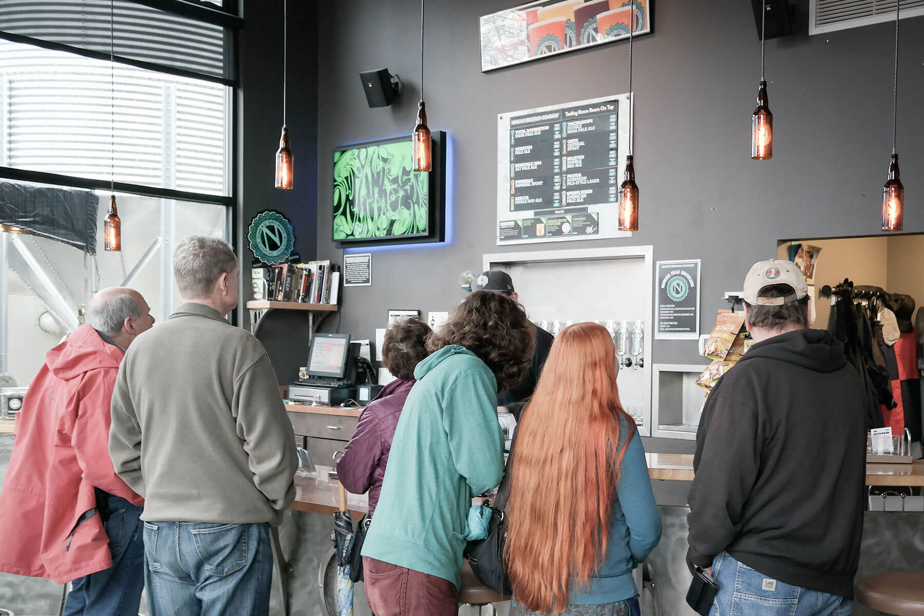 Inside the taproom at Ninkasi Brewing Company in Eugene, Oregon