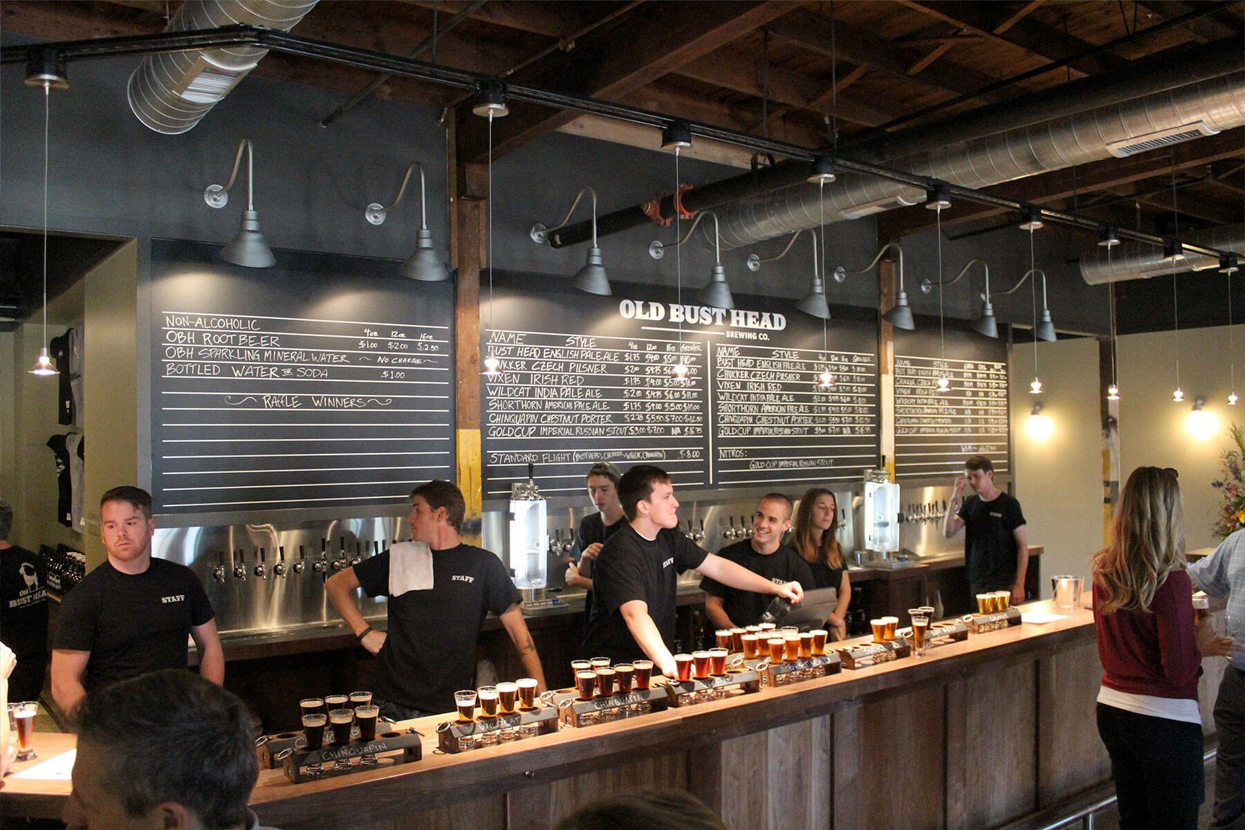 Inside the Old Bust Head Brewing Co. Tap Room in Vint Hill, Virginia