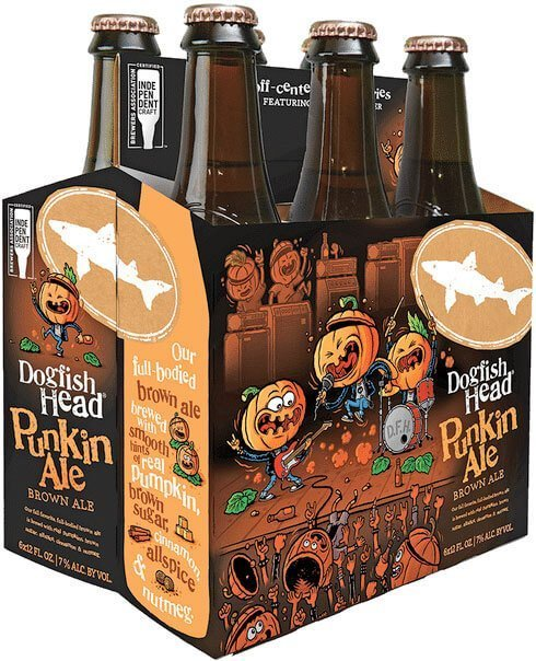 Packaging art for the Punkin Ale by Dogfish Head Craft Brewery