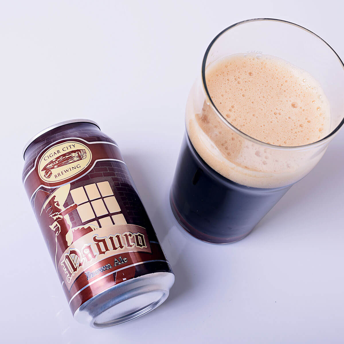 Maduro Brown Ale is an English-style Brown Ale by Cigar City Brewing that blends toffee, chocolate, and brown sugar with nut, floral hops, and coffee.