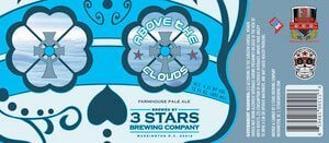 Label art for the Above The Clouds by 3 Stars Brewing Company