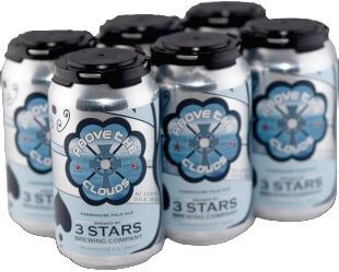 Packaging art for the Above The Clouds by 3 Stars Brewing Company