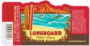 Label art for the Longboard Island Lager by Kona Brewing Co.