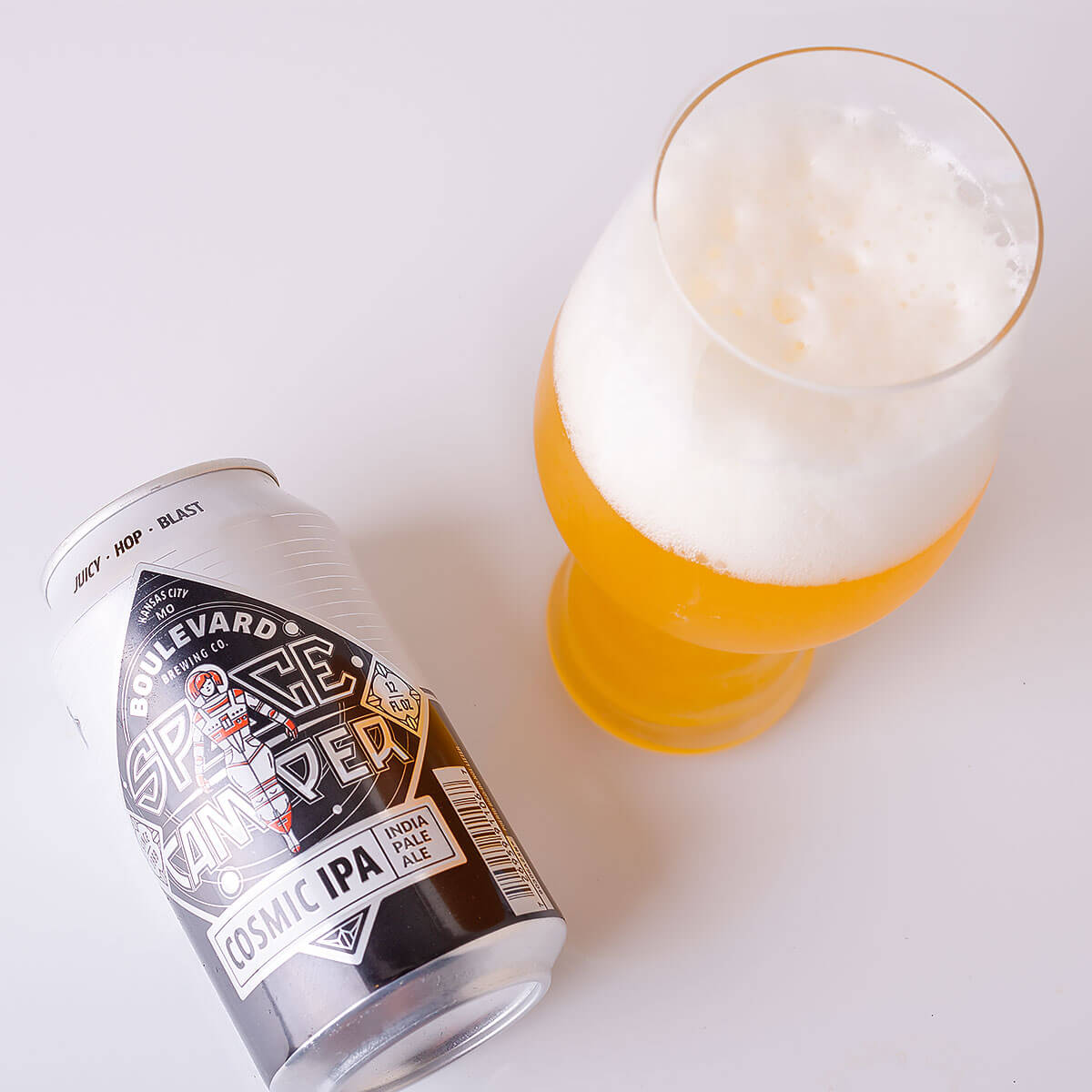 Space Camper Cosmic IPA is an American IPA by Boulevard Brewing Co. that's light and crisp with juicy citrus and stone fruit flavor.
