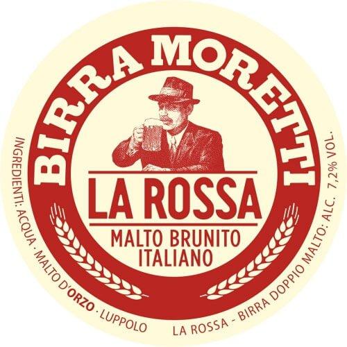 Label art for the Birra Moretti La Rossa by Birra Moretti