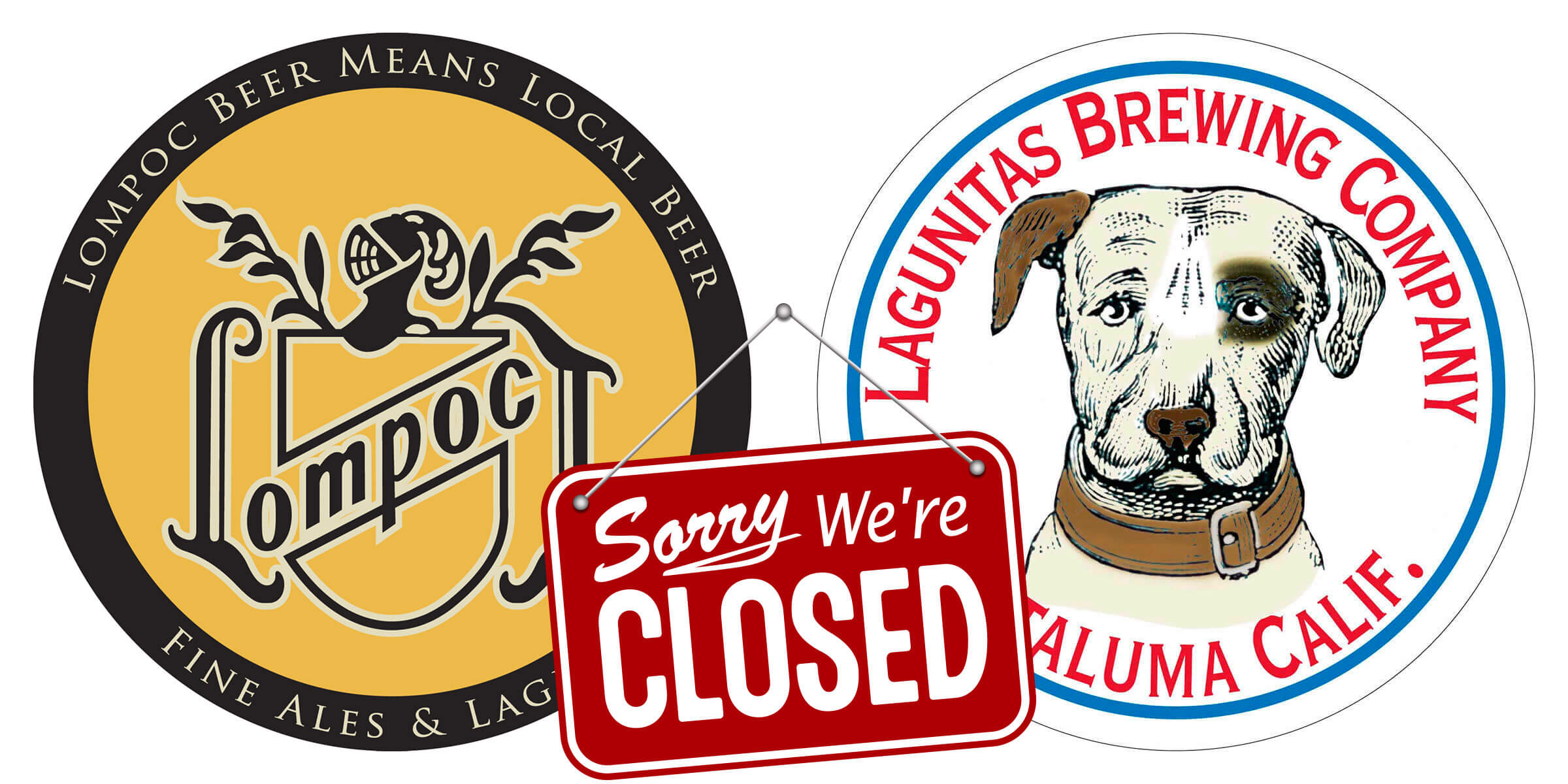 """Lompoc Brewing announced it will close after 23 years in business and Lagunitas Brewing indicated it was closing its Portland """"Community Room"""" location."""