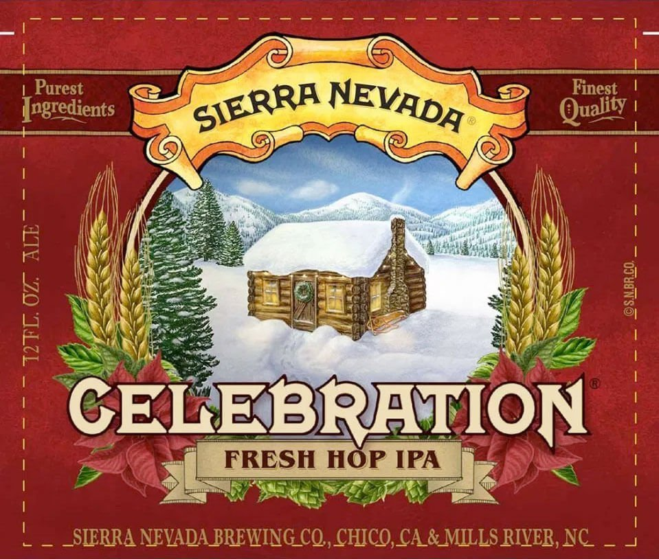 Label art for the Celebration by Sierra Nevada Brewing Co.