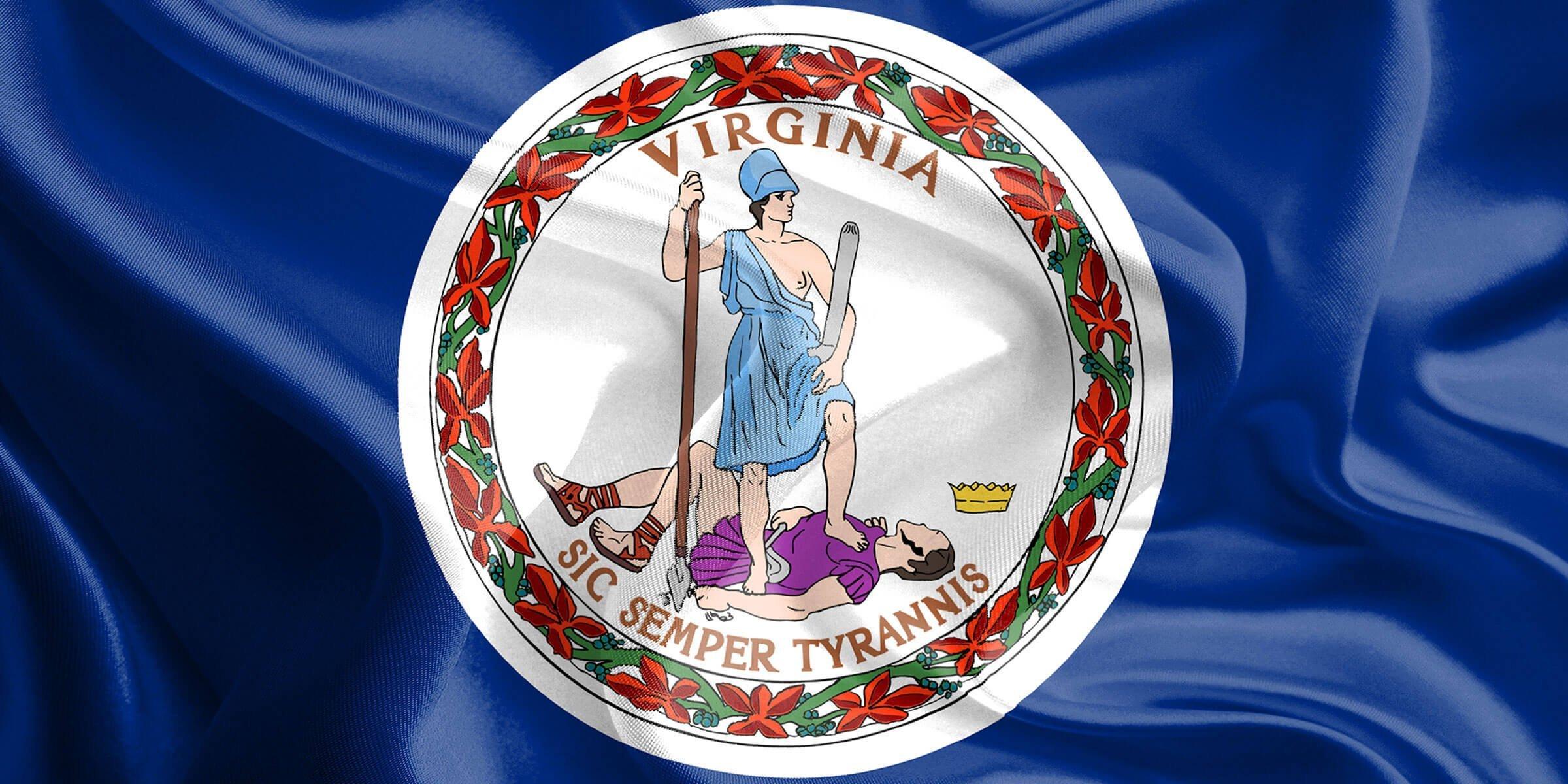 Virginia State Flag Detail