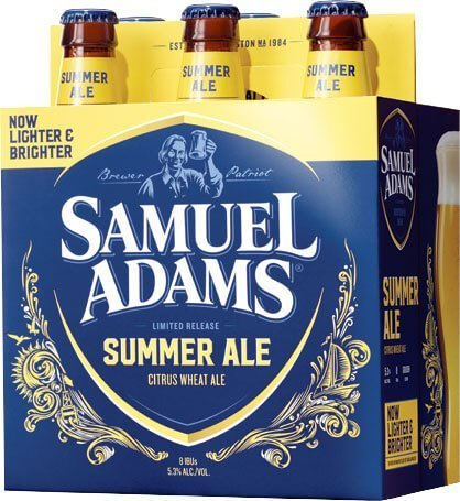 Packaging art for the Samuel Adams Summer Ale by Boston Beer Company