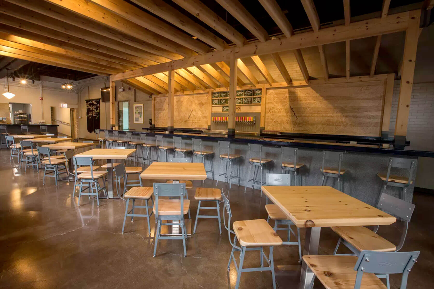 Inside the Half Acre Beer Company's Balmoral tap room in Chicago, Illinois