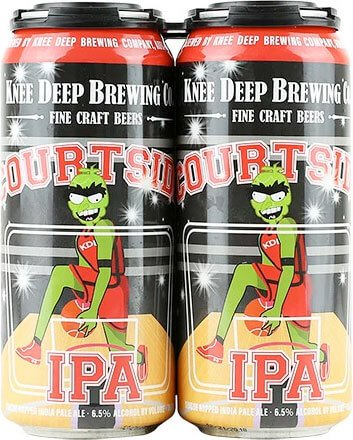 Packaging art for the Courtside IPA by Knee Deep Brewing Co.