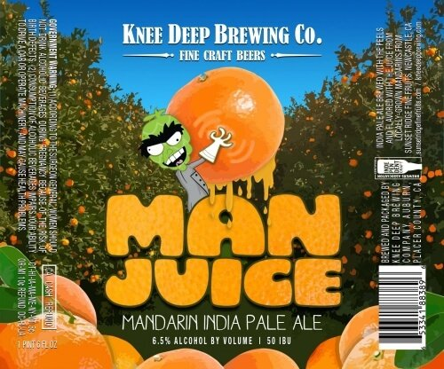 Label art for the Man Juice by Knee Deep Brewing Co.