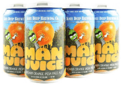 Packaging art for the Man Juice by Knee Deep Brewing Co.