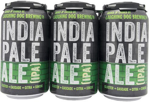 Packaging art for the India Pale Ale (I.P.A.) by Laughing Dog Brewing