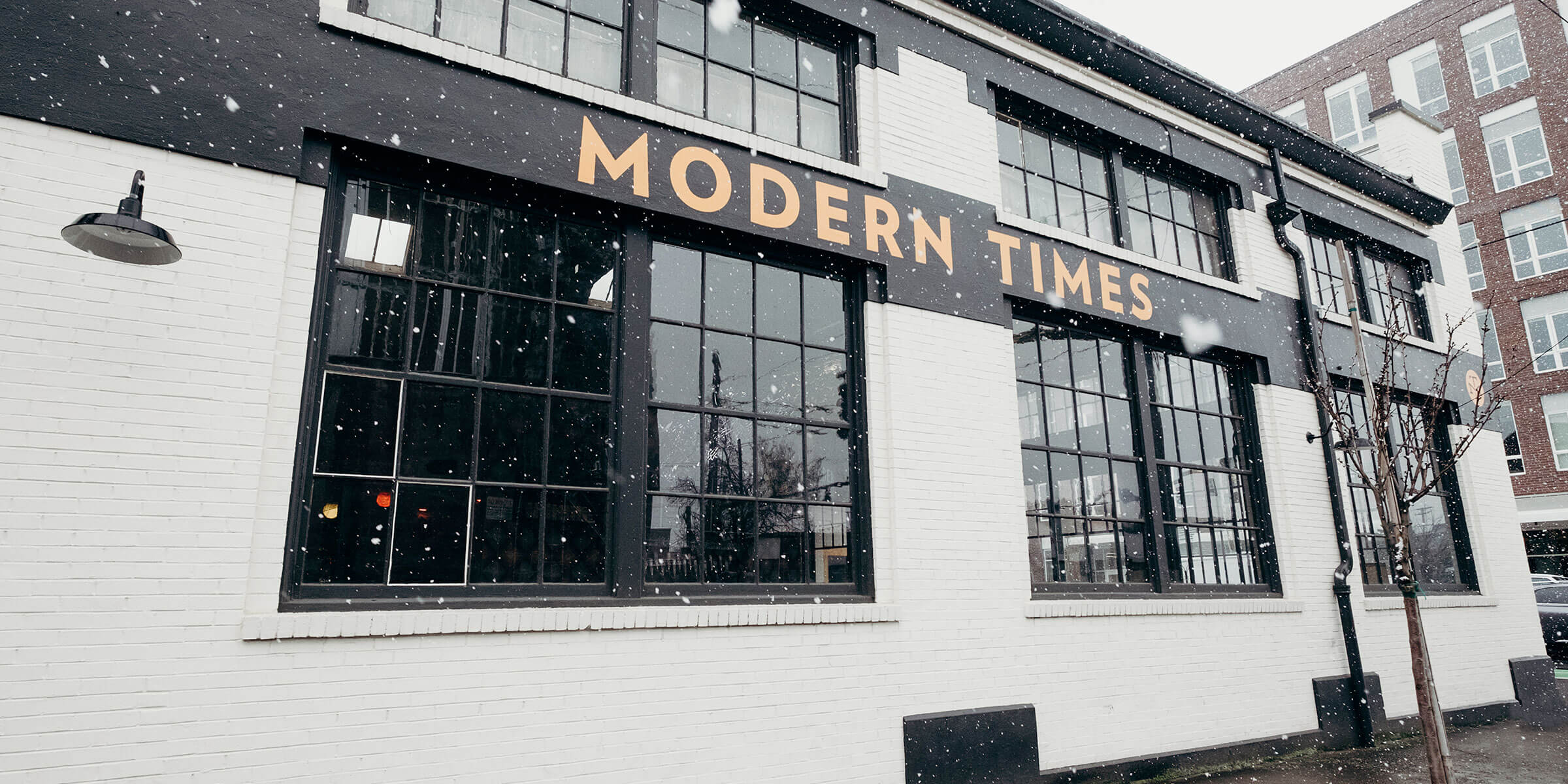Outside The Belmont Fermentorium, the Modern Times Beer location in Portland, Oregon