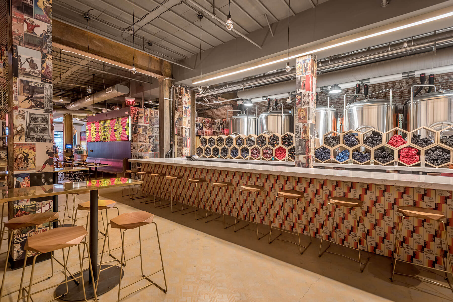 Inside The Dankness Dojo taproom at the Modern Times Beer location in Los Angeles, California