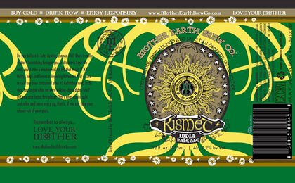 Label art for the Kismet by Mother Earth Brew Co.