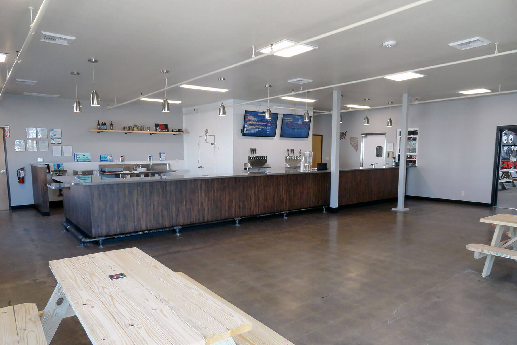 Inside the taproom at Revision Brewing Company in Sparks, Nevada