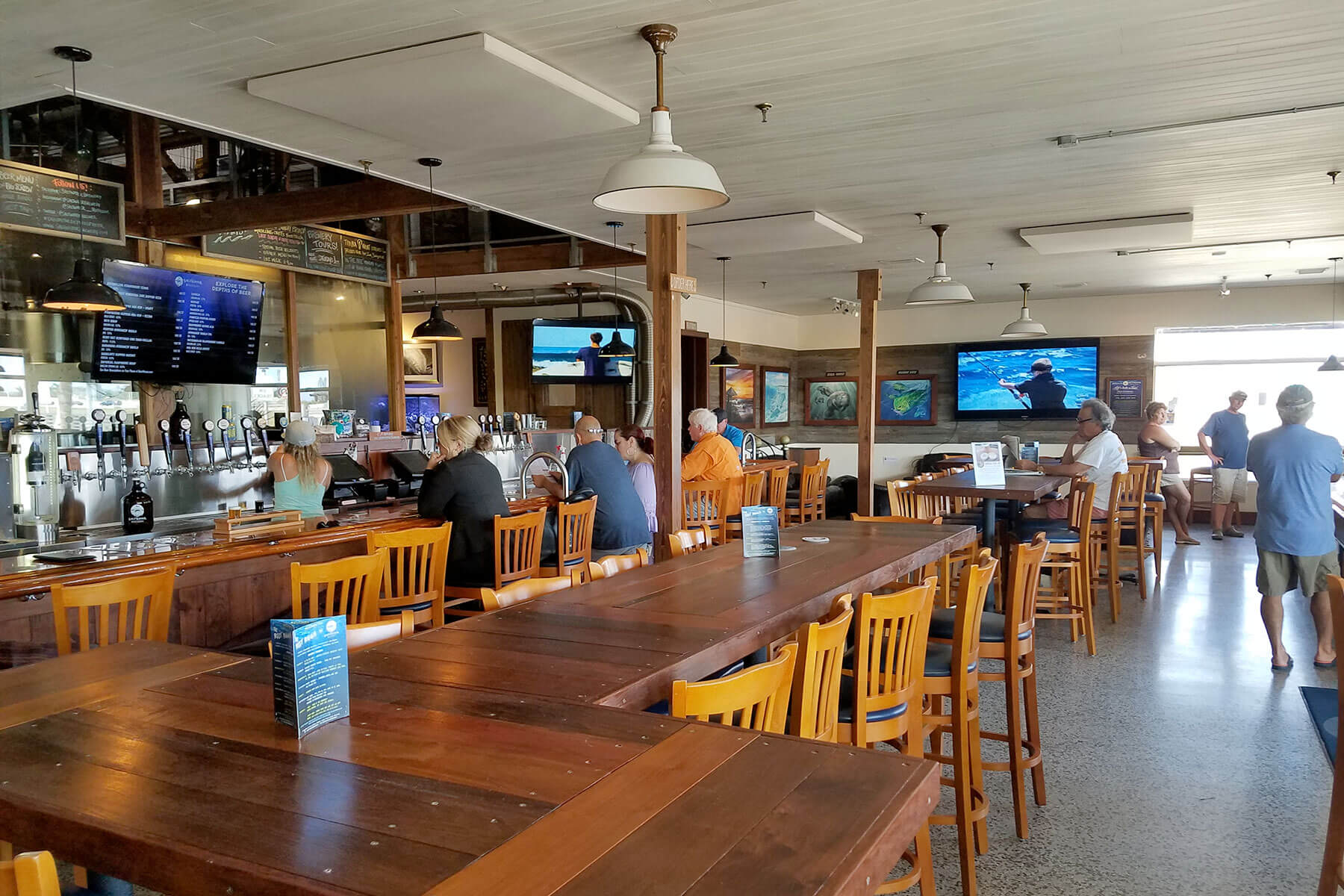 Inside the SaltWater Brewery taproom in Delray Beach, Florida